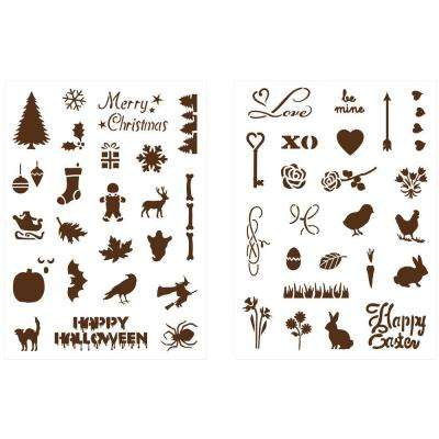Holiday Icons II Adhesive Stencils