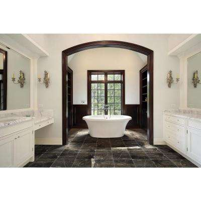 Frontier Brown 12 in. x 12 in. Polished Marble Floor and Wall Tile (5 sq. ft. / case)