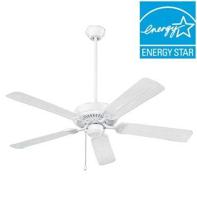 Wet Rated Series 52 in. Outdoor White Ceiling Fan