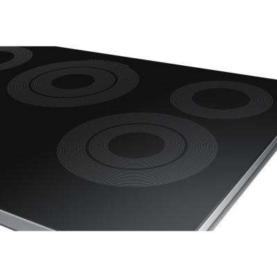 30 in. Radiant Electric Cooktop in Stainless Steel with 5 Elements and Wi-Fi