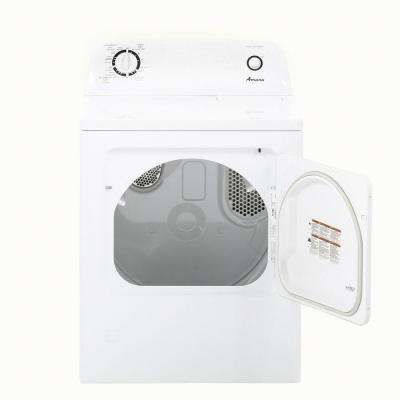 6.5 cu. ft. 120 Volt White Gas Vented Dryer