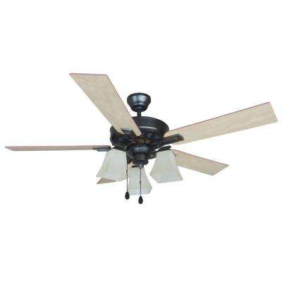 Torino 52 in. Brushed Bronze Ceiling Fan