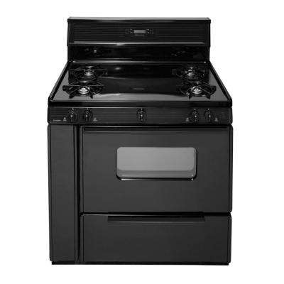 36 in. 3.97 cu. ft. Freestanding Gas Range in Black