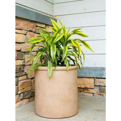 Large 17.7 in. Dia x 17.7 in. Terracotta Lightweight Concrete Cylindrical Planter