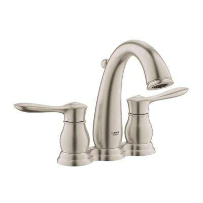 Parkfield 4 in. Centerset 2-Handle 1.2 GPM Bathroom Faucet in Brushed Nickel InfinityFinish