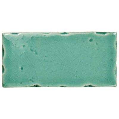Novecento Subway Aguamarina 2-1/2 in. x 5-1/8 in. Ceramic Wall Tile (6.16 sq. ft. / case)