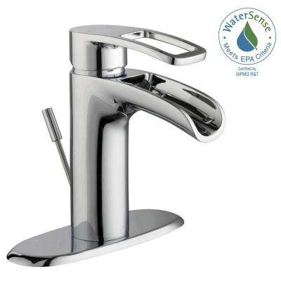 Kiso 4 in. Centerset Single-Handle Low-Arc Bathroom Faucet in Chrome