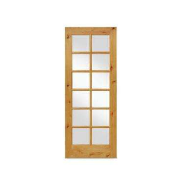 Rustic Knotty Alder 12-Lite TDL Wood Stainable Interior Door Slab