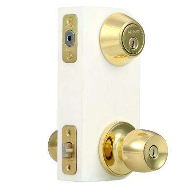 Brandywine Single Cylinder Polished Brass Entry Project Pack