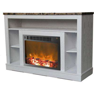 Seville 47 in. Fireplace Electronic White Mantel with Insert