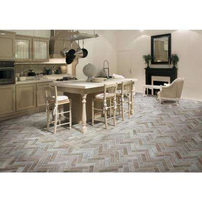 Capella Ivory Brick 2-1/3 in. x 10 in. Glazed Porcelain Floor and Wall Tile (5.17 sq. ft./case)