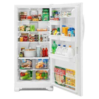 31 in. W 17.78 cu. ft. Freezerless Refrigerator in White