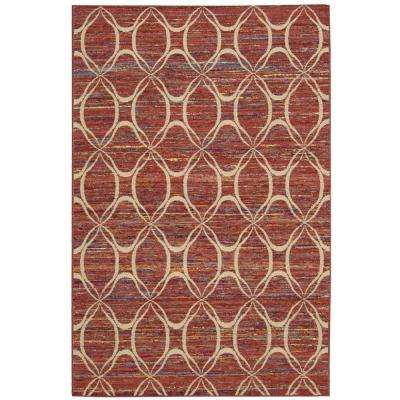 Spectrum Paprika 3 ft. 9 in. x 5 ft. 9 in. Area Rug