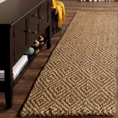 Natural Fiber Natural/Gray 2 ft. x 10 ft. Runner Rug