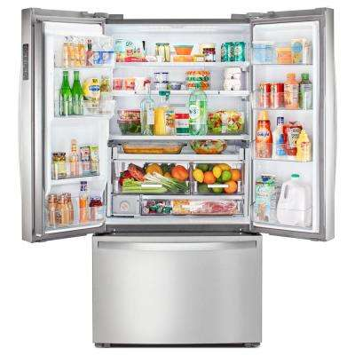 24 cu. ft. French Door Refrigerator in Fingerprint Resistant Stainless Steel, Counter Depth