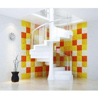 7/8 in. x 11-7/8 in. x 11-7/8 in. PVC White Seville EnduraWall Decorative 3D Wall Panel
