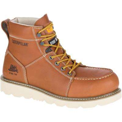 Tradesman Men's Brown Steel Toe Work Boots