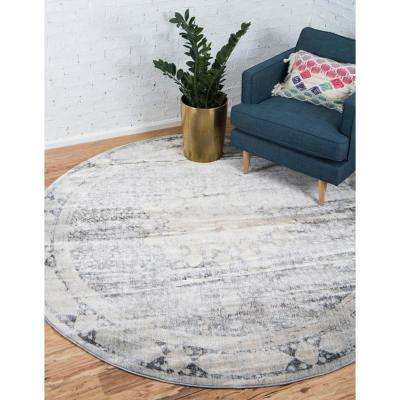 Asheville Rockwell Gray 8' 0 x 8' 0 Round Rug