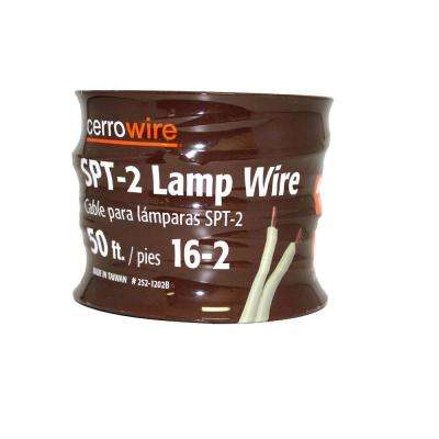 50 ft. 16/2 White Stranded Lamp Cord