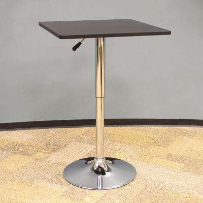 Classic Style 36 in. L Wood Top Square Bistro Table in Black
