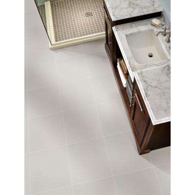 Adella White 18 in. x 18 in. Matte Porcelain Floor and Wall Tile (11.25 sq. ft. / case)