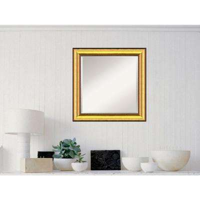 Vegas Burnished Gold Wood 25 in. W x 25 in. H Casual Framed Mirror