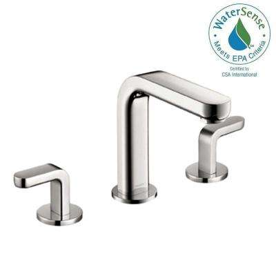 Metris S 8 in. Widespread 2-Handle Mid-Arc Bathroom Faucet in Chrome