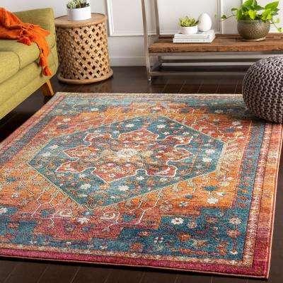 Caius Orange 2 ft. x 3 ft. Oriental Area Rug