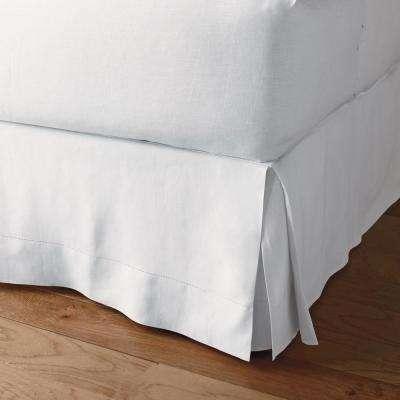 Comfort Wash Solid Linen Bed Skirt, 18 in. Drop