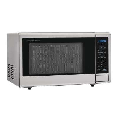 1.1 cu. ft. Countertop Microwave in Stainless Steel with Sensor Cooking