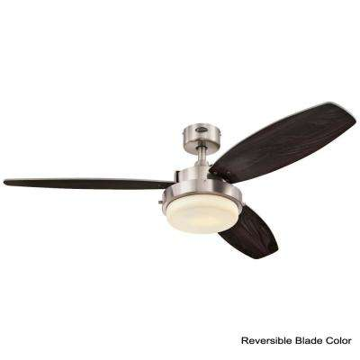 Alloy 52 in. LED Brushed Nickel Ceiling Fan