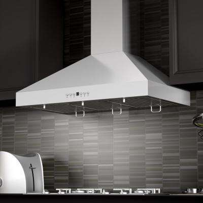 48 in. 760 CFM Convertible Wall Mount Range Hood in Stainless Steel