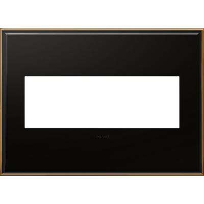 3-Gang 3 Module Wall Plate - Oil Rubbed Bronze with Beaded Border