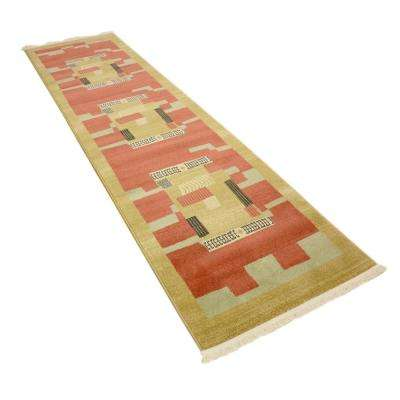 Fars Jefferson Rust Red 2' 7 x 10' 0 Runner Rug