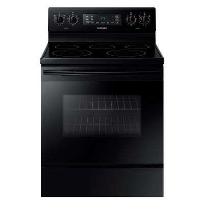 5.9 cu. ft. Freestanding Electric Range with Self Cleaning and 5 Burners in Black