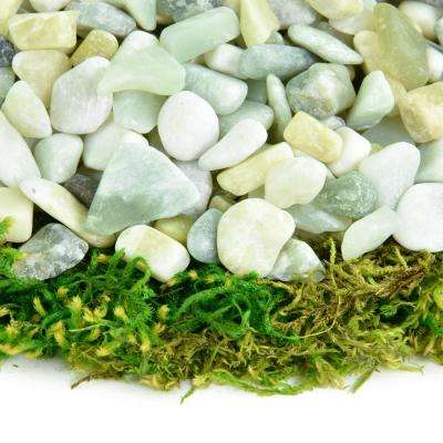 0.20 cu. ft. 3/8 in. - 5/8 in. 5 lbs. Small Jade Polished Rock Pebbles for Planters, Gardens, Aquariums and More