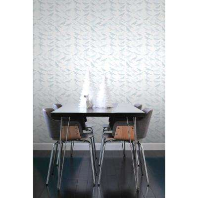 Debut Collection Tweeter in Light Blue Removable and Repositionable Wallpaper