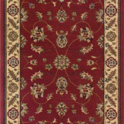 Stratford Kazmir Red 33 in. x Your Choice Length Roll Runner
