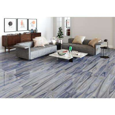 Dellano Exotic Blue 8 in. x 48 in. Polished Porcelain Floor and Wall Tile (7.998 sq. ft. / case)