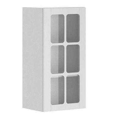 15x30x12.5 in. Odessa Wall Cabinet in White Melamine and Glass Door in White