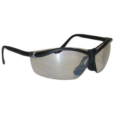 Black Frame with Semi-Rimless Light Silver Lenses Outdoor Safety Glasses
