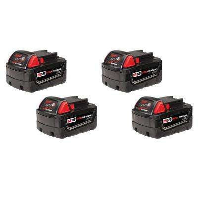 M18 18-Volt Lithium-Ion XC High Capacity Battery (4-Pack)