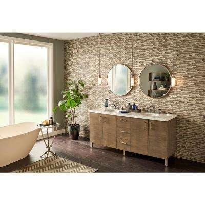 Luxe Interlocking 11.81 in. x 11.81 in. x 8 mm Glass Mesh-Mounted Mosaic Tile (9.69 sq. ft./case)