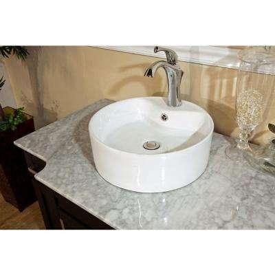 Trento I 40 in. Single Vanity in Dark Mahogany with Marble Vanity Top in White