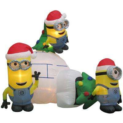8 ft. Inflatable Minions Igloo Scene Airblown