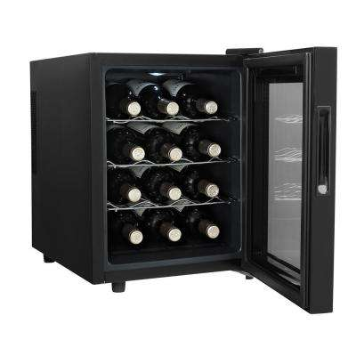 12-Bottle Wine Cooler in Black