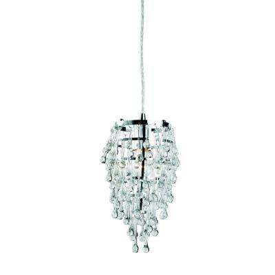 Vidal Collection 1-Light Chrome and Clear Pendant