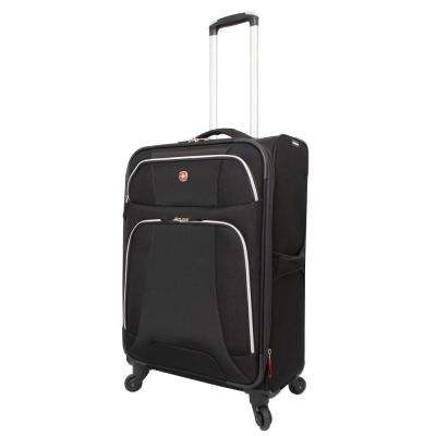 Monte Leone 24.5 in. Black Spinner Suitcase