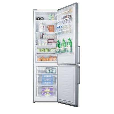 24 in. W 13.3 cu. ft. Bottom Freezer Refrigerator in Stainless Steel, Counter Depth