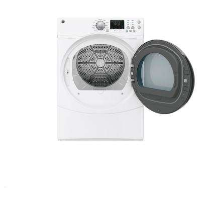 7.5 cu. ft. Capacity Front Load Electric Dryer with Steam in White